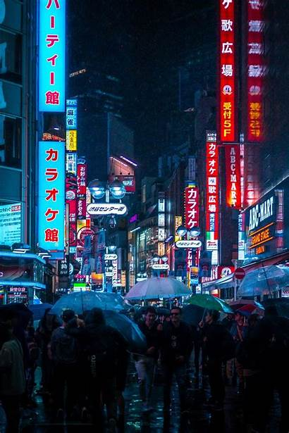 Aesthetic Japan Japanese Wallpapers Iphone Chill Neon