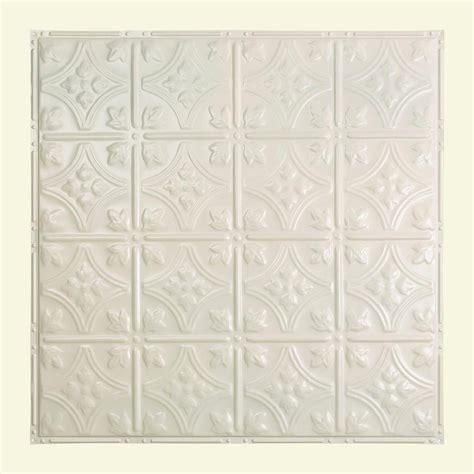 White Tin Ceiling Tiles Home Depot by Great Lakes Tin Hamilton 2 Ft X 2 Ft Nail Up Tin Ceiling