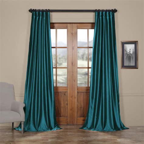 108 Curtains And Drapes by Half Price Drapes Mediterranean Faux Silk Taffeta Single