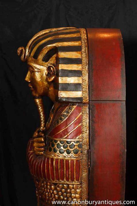 pair french empire mummy cabinets egyptian egypt mummies pharo