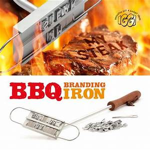 Bbq burger branding iron changeable letters barbecue for Bbq branding iron with changeable letters