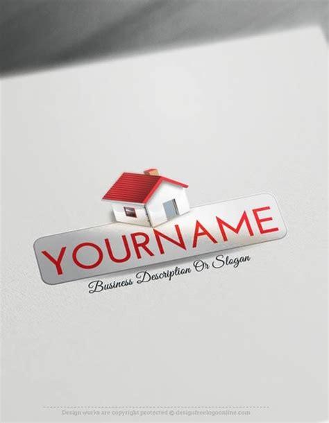 create  logo  real estate house logo templates