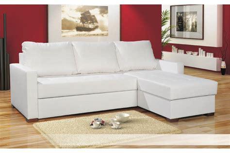 canapé d angle cuir blanc pas cher