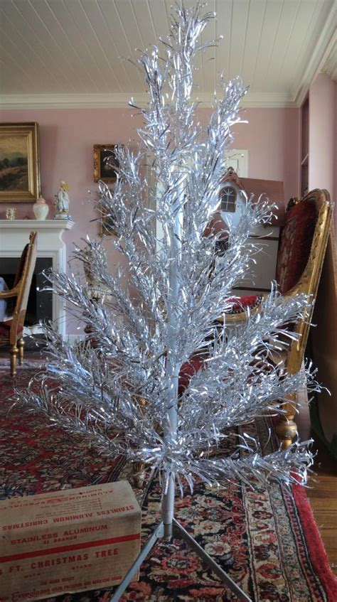 evergleam aluminum trees evergleam aluminum tree 4 foot with 31 branch with etsy