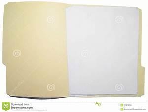 open folder stock image image of file documents empty With documents folder empty