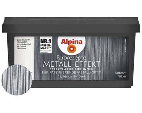 Alpina Metall Effekt by Alpina Farbrezepte Effektlasur Metall Effekt Silber 1 L