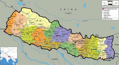nepal map hd image