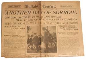 Image result for U.S. President William McKinley died of gunshot wounds
