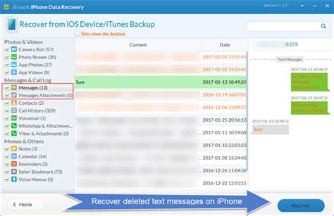 restore deleted text messages iphone iphone 7 data recovery how to recover deleted text