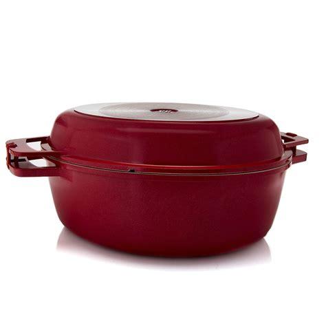 cuisine r騁ro cook 39 s companion guss aluminum keramik proaster röster m grillpfanne deckel ebay
