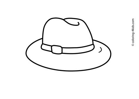 hat coloring page hat coloring pages for printable drawing template