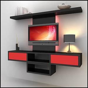tv wall unit modern design x 09 3D Models - CGTrader com