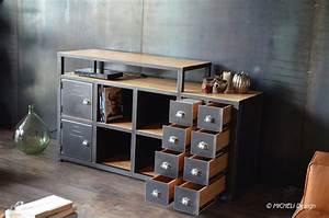 meuble tv rangement cd dvd vinyles en bois et metal With meuble tv rangement dvd