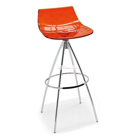 tabouret de bar design calligaris tabourets transparent connubia by calligaris