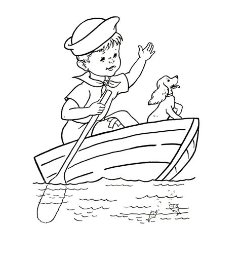 printable boat coloring pages  kids