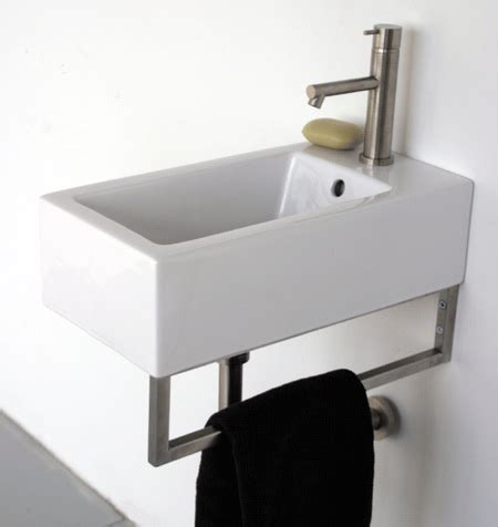 narrow wall mount sink 10 easy pieces wall mounted guest bath sinks remodelista