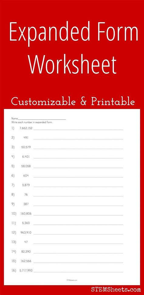 25 best ideas about expanded form worksheets on pinterest