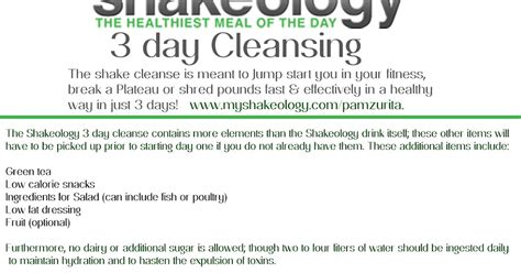 Thin Perfections: SHAKEOLOGY 3 DAY CLEANSE