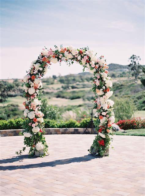 romantic hillside wedding  san clemente