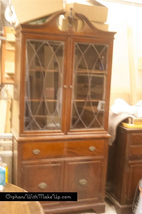 china cabinet makeover  traditional  farmhouse