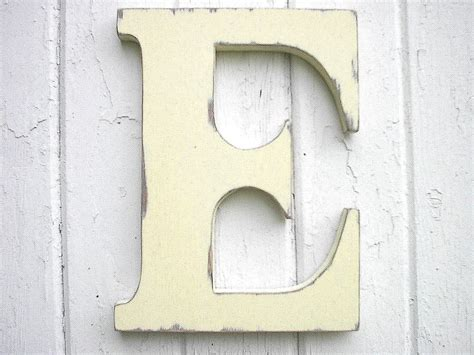 decorative letters for mantle wooden letters initial e 12 inch antique white wall decor