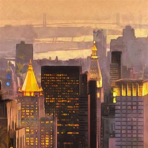 golden light empire state building canvas large wall