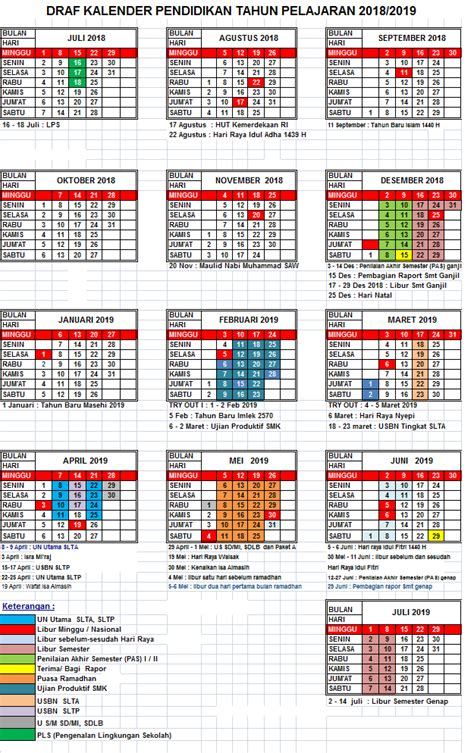 kalender pendidikan pelajaran kaldik