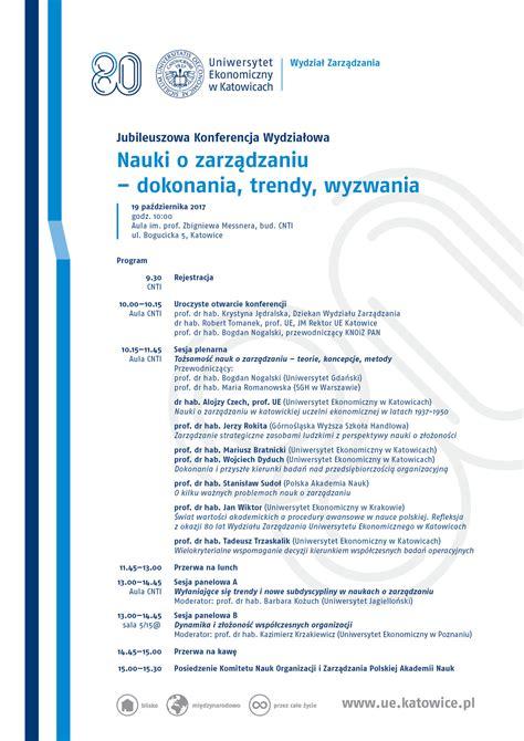 Program konferencji | Uniwersytet Ekonomiczny w Katowicach