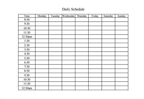 Weekly Work Schedule Template Free by Weekly Work Schedule Template 8 Free Word Excel Pdf