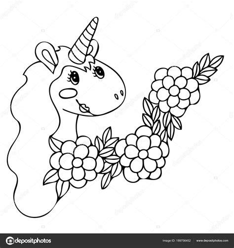 inviti unicorno da stare unicorno per libro da colorare vettoriali stock
