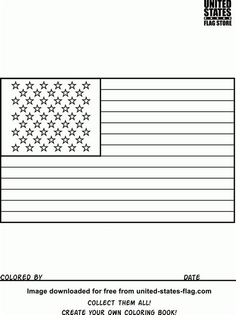 American Flag Outline Without Stars