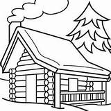Cabin Coloring Clipart Log Woods Webstockreview Happy sketch template
