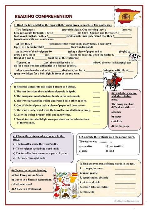 Reading Comprehension Two Foreigners Worksheet  Free Esl Printable Worksheets Made By Teachers