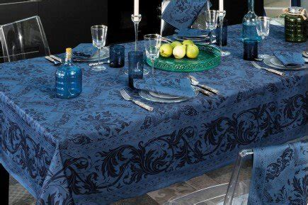 topkapi navy french luxury tablecloth  beauville