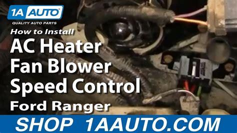 install replace ac heater fan blower speed control
