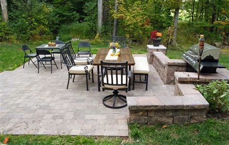 how to install a paver patio and create a backyard