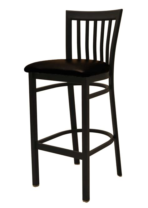 Comfortable Tall Black Leather And Metal Bar Stools With Back