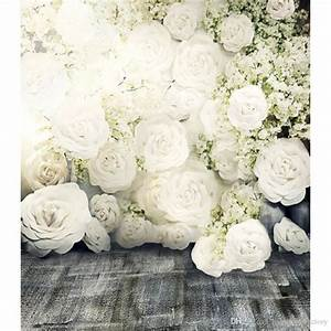 2017 3d white roses romantic flower wall backdrop wedding With 3d wedding photography