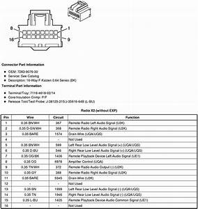 I Am Installing A Stereo In My 2009 Srx And Need The Wiring Diagram For The Two Connectors That