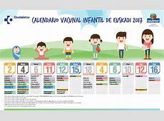 Calendario de vacunación infantil para bebés nacidos 2017