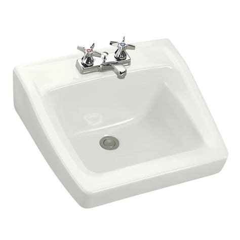 home depot wall mount sink kohler chesapeake wall mount vitreous china bathroom sink