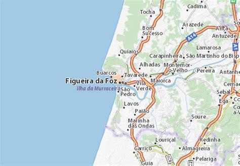 map of figueira da foz michelin figueira da foz map