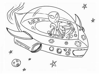 Coloring Spaceship Pages Printable