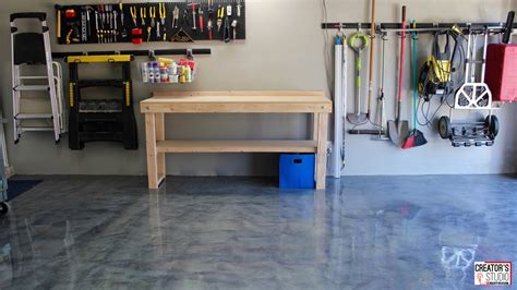 diy garage floor makeover with rocksolid metallic floor