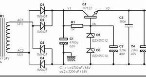 24 volt dc power supply circuit diagram schematic simple With 4 volt preamplifier circuit diagrams