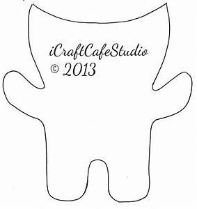 Icraftcafestudio felt monsters for Mosnter template
