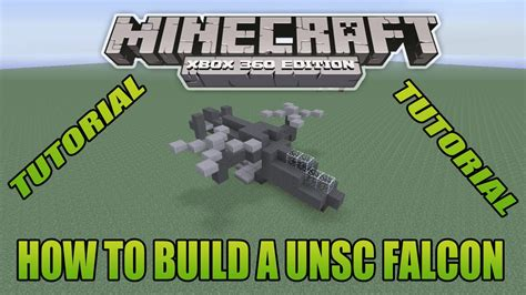 Minecraft Xbox Edition Tutorial How To Build A Unsc Falcon
