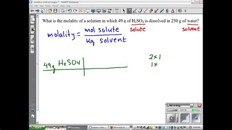 calculating molality   solution youtube