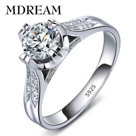 platinum filled 925 sterling silver ring and cubic zirconia ring wedding rings jewelry