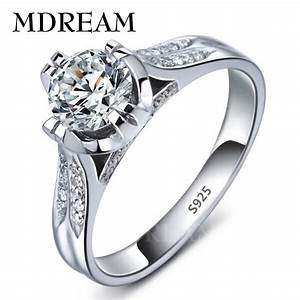 platinum filled 925 sterling silver ring and cubic With romantic wedding rings